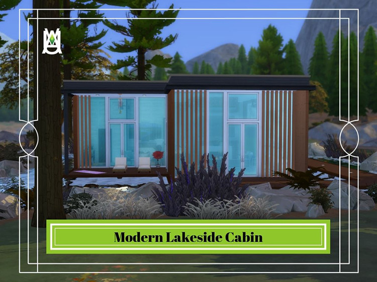 Modern Lakeside Cabin Sims 4 Camping Mod