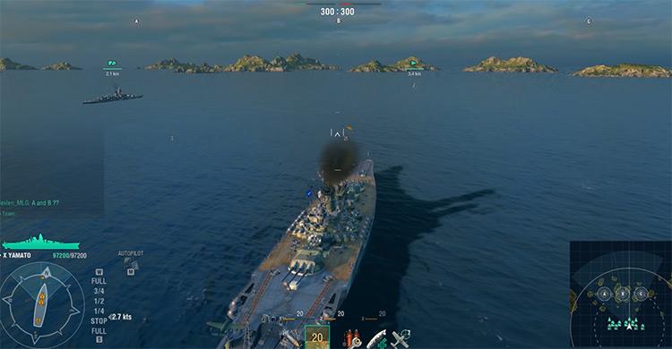 Battleship in World of Warships screenshot
