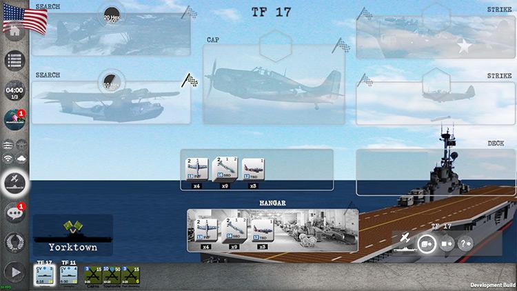 Carrier Battles 4 Guadalcanal game menu screenshot