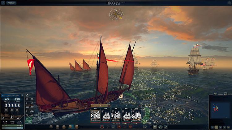 Ultimate Admiral: Age of Sail gameplay screenshot