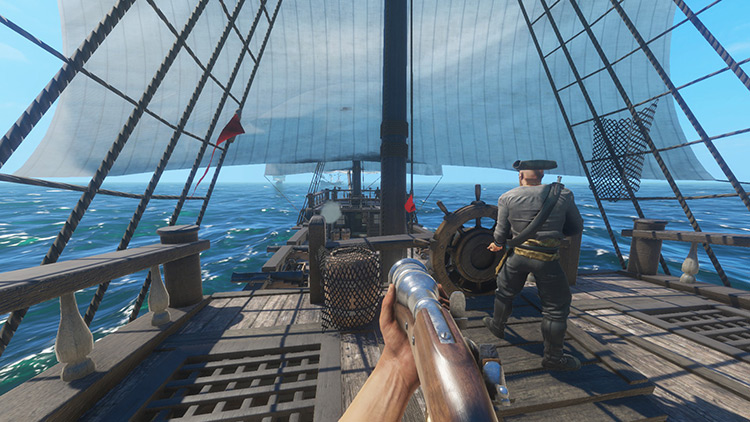 Player point of view in ship Blackwake game