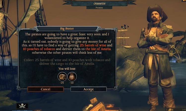 Tempest 2016 npc dialogue screenshot