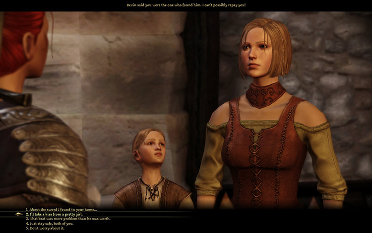 Dragon Age Origins cinematic screenshot