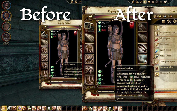 FTG UI Mod gameplay comparison