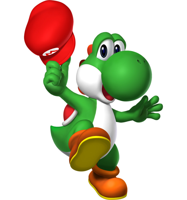 Yoshi Mario Character artwork