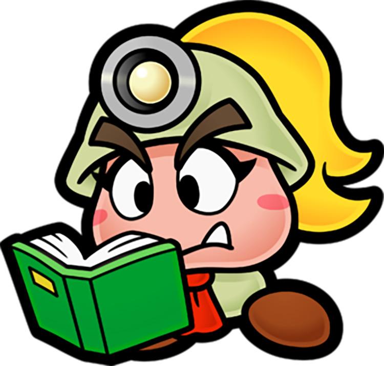 Goombella Mario Character artwork
