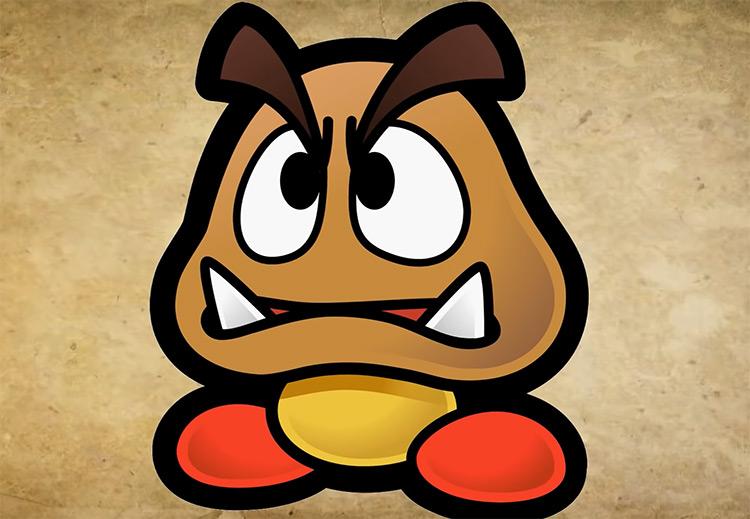 Goomba Mario Character artwork