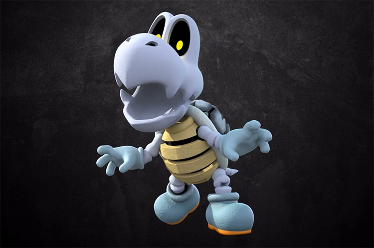 Dry Bones Mario Character artwork