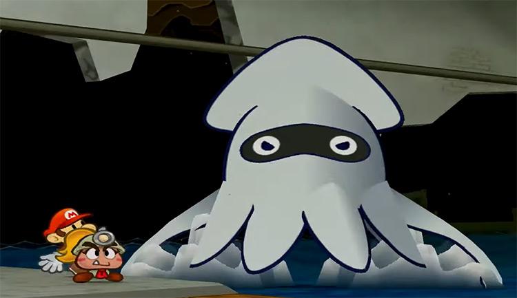 Blooper Mario Character