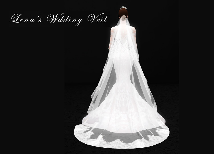 Lena's Wedding Veil Sims 4 CC