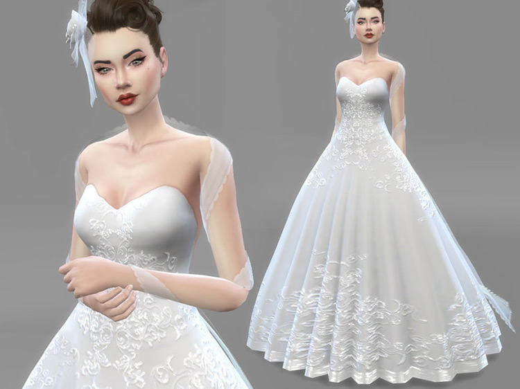 Wedding Set – Hat Rosa Sims 4 CC