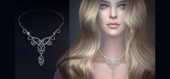 Custom necklace for girls - Sims 4 CC