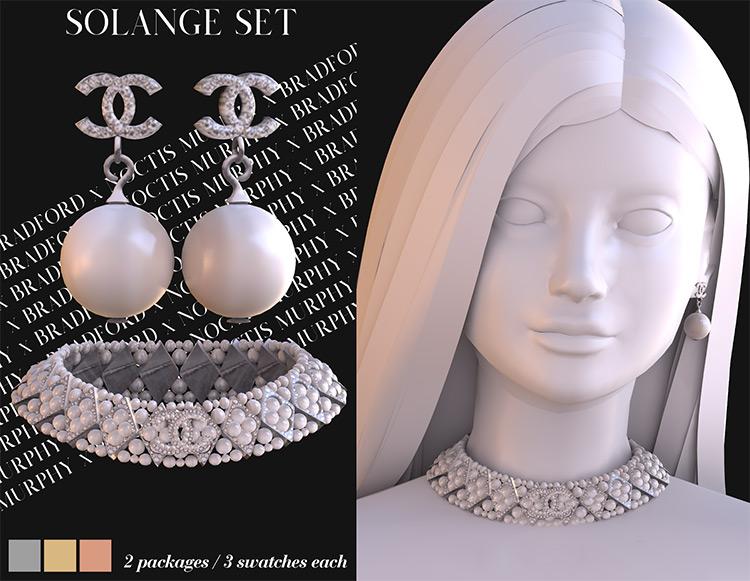 Solange Set Sims 4 CC screenshot