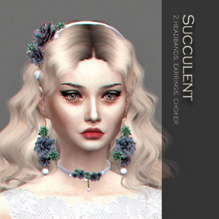 Succulent Set Sims 4 CC screenshot