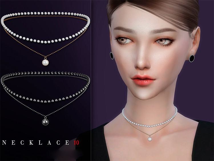Necklace 10 Sims 4 CC