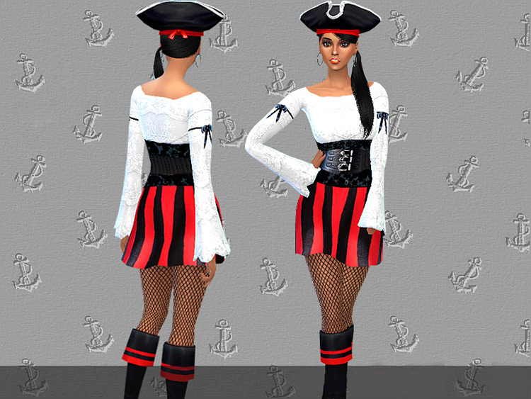 Pirate Sweetheart Costume Sims 4 CC