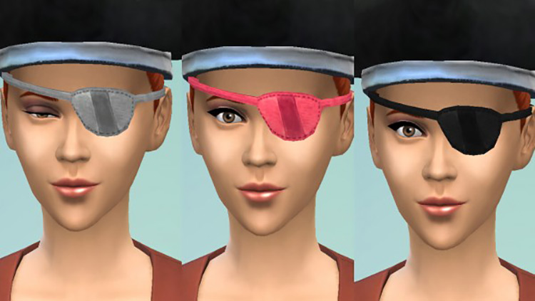 Multi-coloured Eyepatches Sims 4 CC