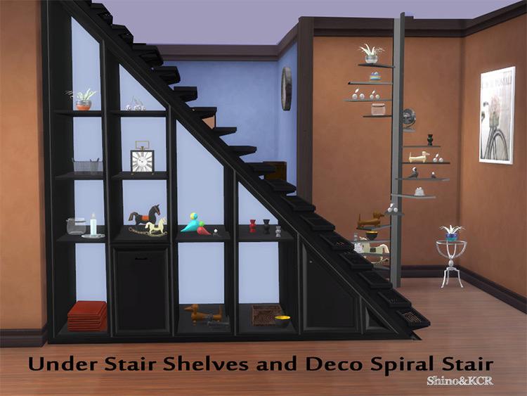 Under-Stair Shelves + Spiral Stair CC