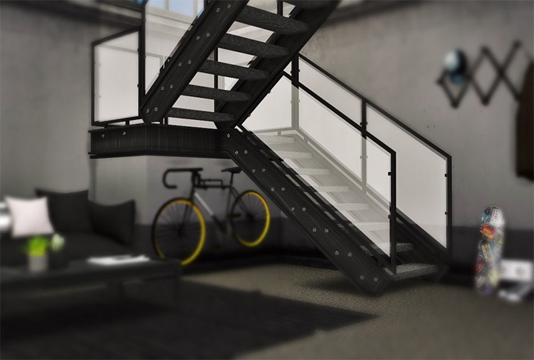 Industrial U Stairs CC