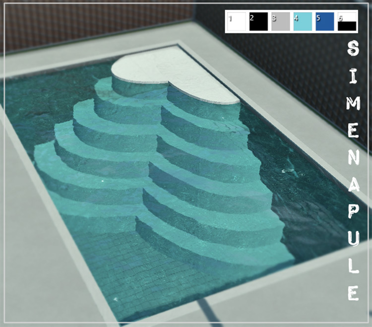 Pool Stairs CC Sims 4
