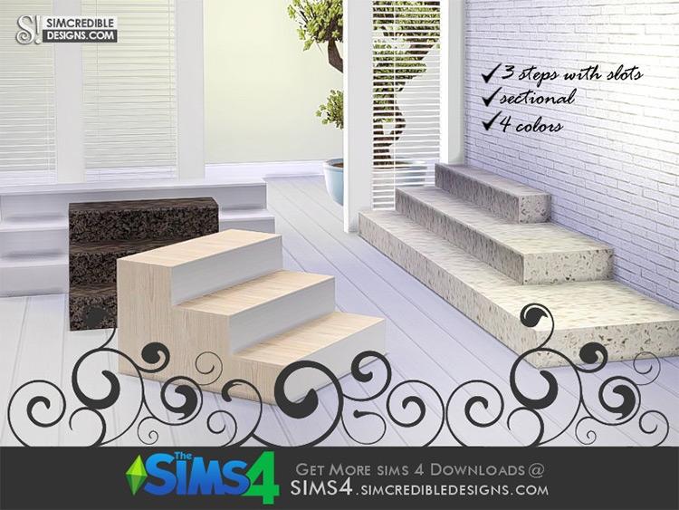 Natural Stone Steps - TS4 CC