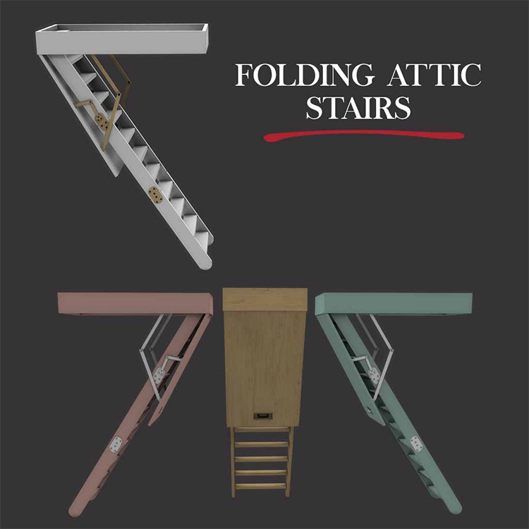 Folding Attic Stairs CC