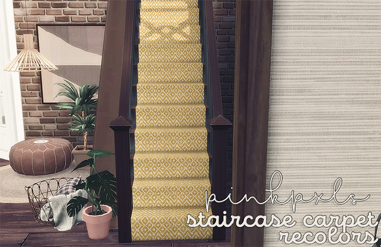 Manor Stair Carpet Recolor CC - TS4