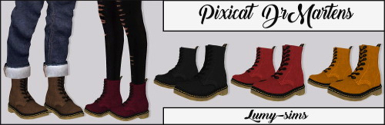 Pixicat's DrMartens Shoes CC for Sims 4
