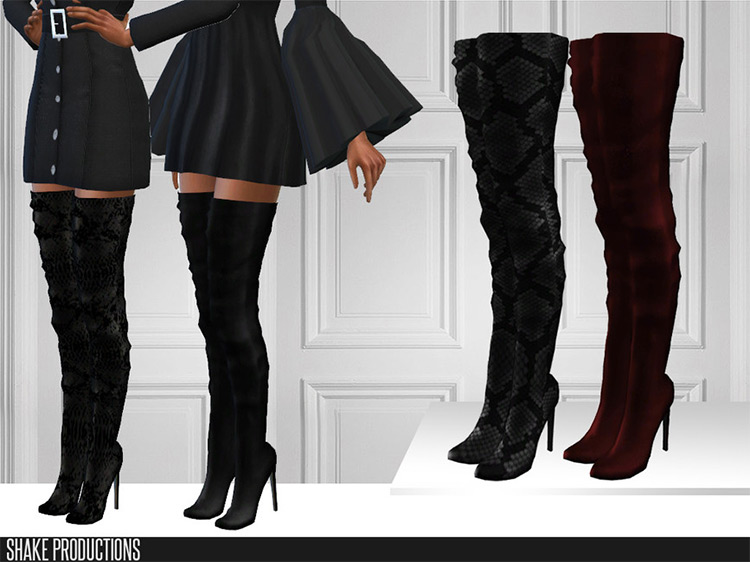 Leather Boots Sims 4 CC screenshot