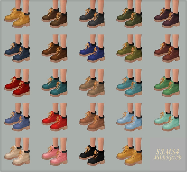 Female Hiking Boot Sims 4 CC