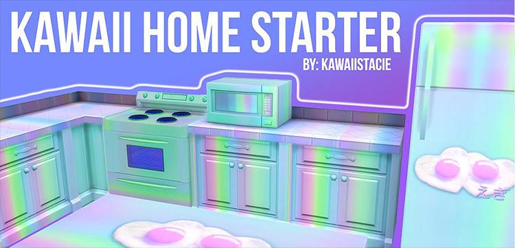 Kawaii Home Starter Set Sims 4 CC
