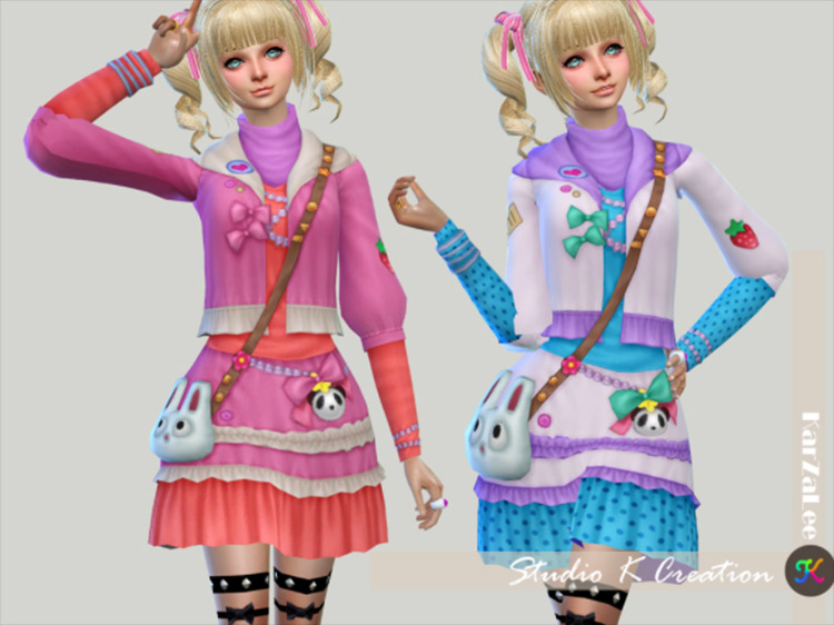 Decoration Dress CC for Sims 4