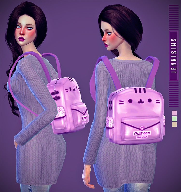 Backpack and Bow Sims 4 CC