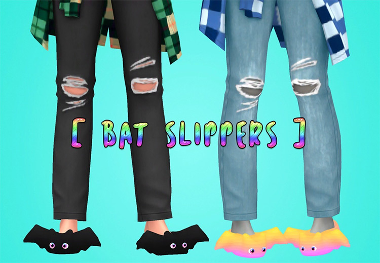 Bat Bootie Slippers Sims 4 CC screenshot