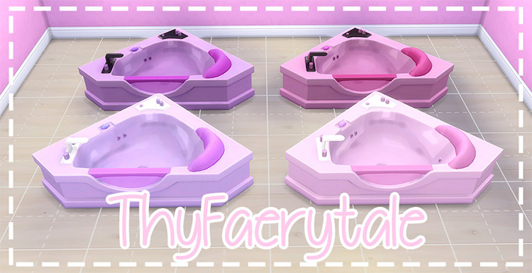 Pastel Luxury Bathtub Sims 4 CC