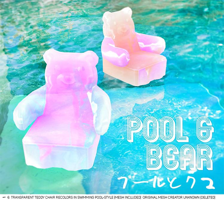 Pool And Bear Sims 4 CC