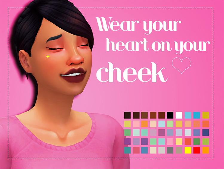 Wear Your Heart On Your Cheek Mole Sims 4 CC