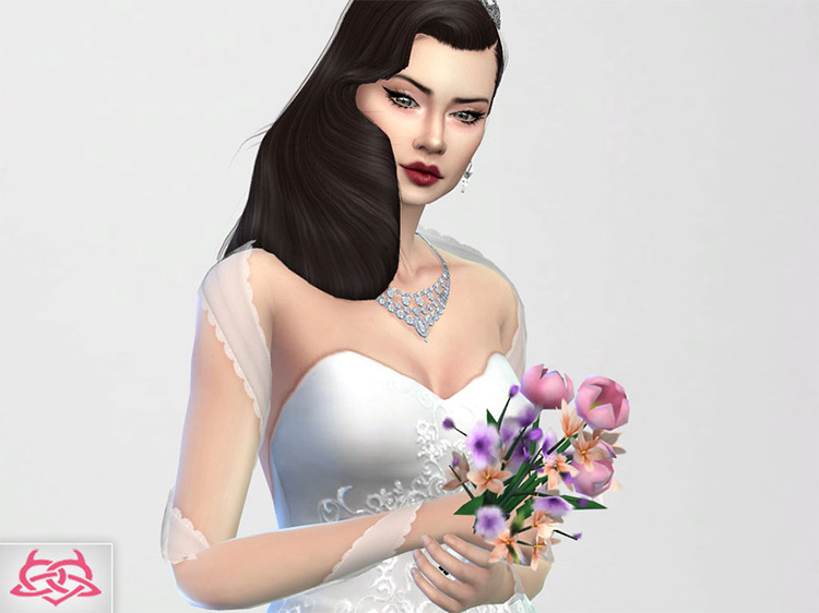 Wedding Bouquet 2 CC for Sims 4