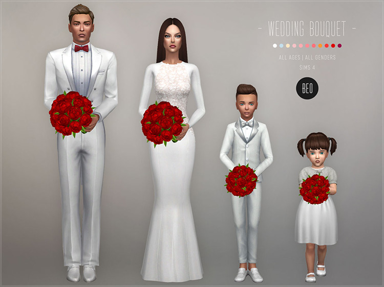 Wedding Bouquet by BEO Sims 4 CC