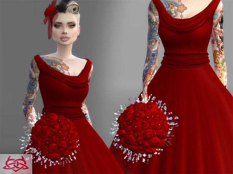 Wedding Bouquet 1 CC for Sims 4