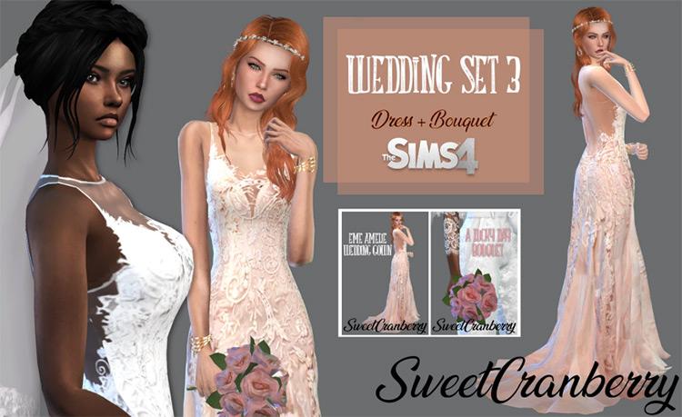 Wedding Set 3 Sims 4 CC screenshot