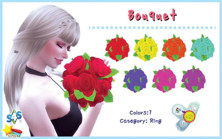 Bouquet Sims 4 CC screenshot
