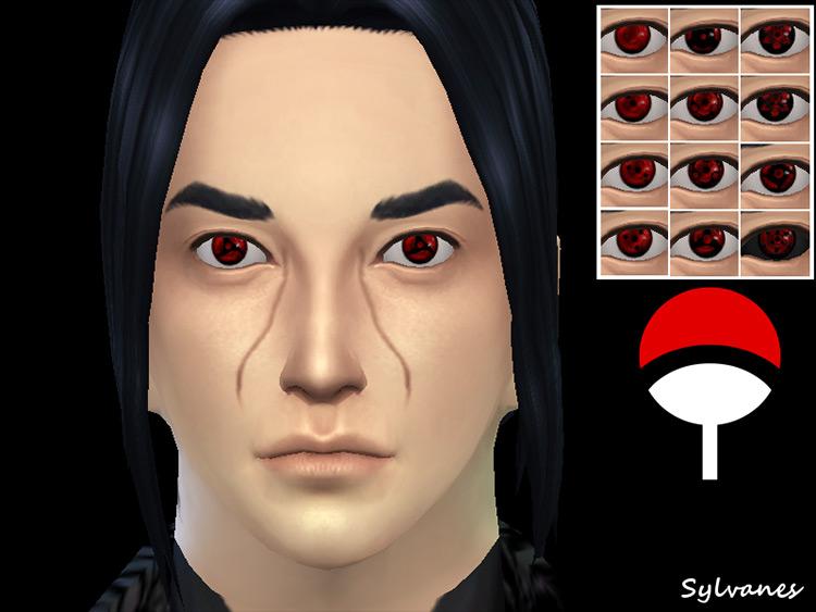 Sharingan Eyes Sims 4 CC screenshot