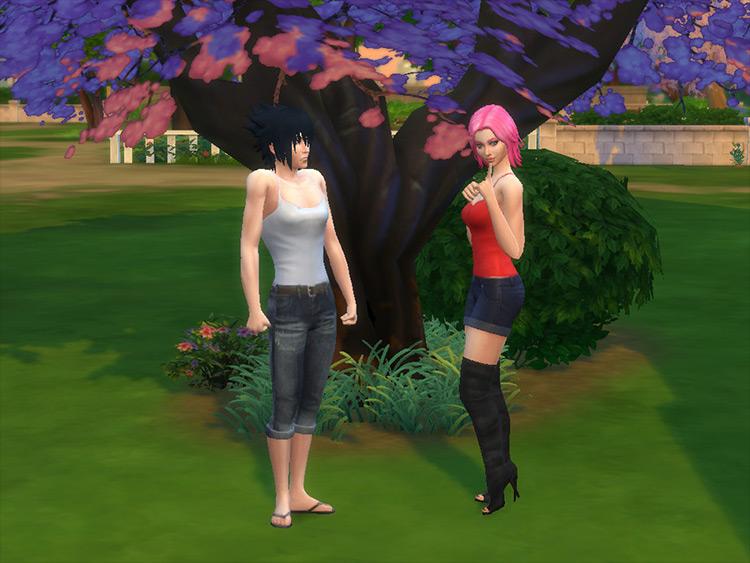 Uchiha Tank Top CC for Sims 4