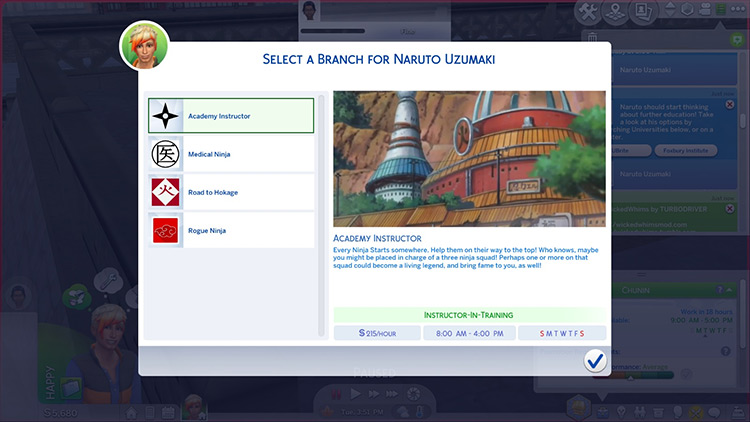 Naruto Ninja Career Sims 4 CC