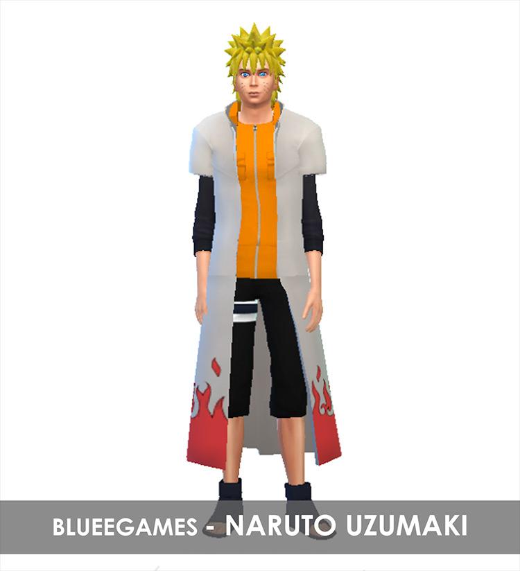 Five Naruto Outfits Sims 4 CC screenshot