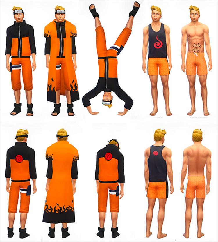 Naruto Uzumaki's Clothes Sims 4 CC