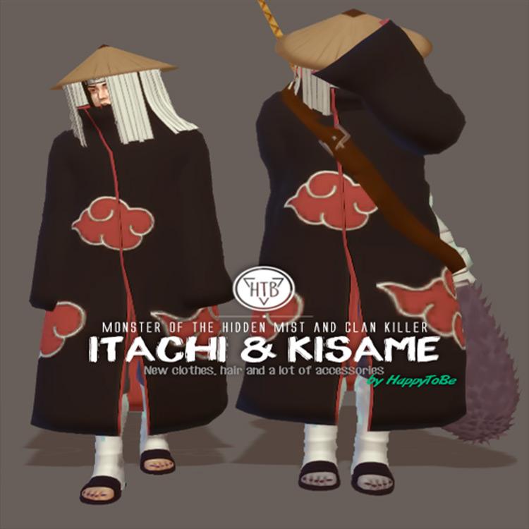 Itachi & Kisame CC for Sims 4