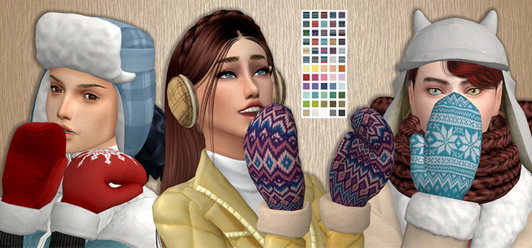 Sims 4 CC: Custom Gloves & Mittens For Your Sim Winter