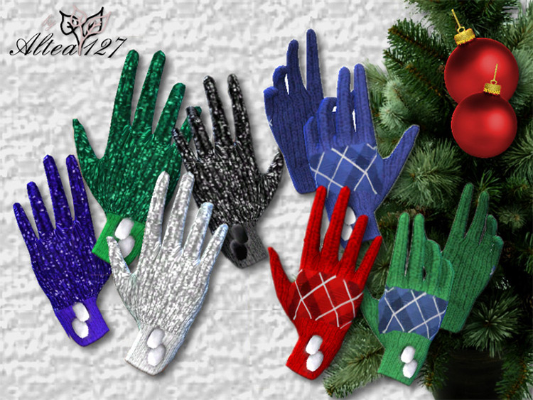 Christmas Gloves CC for Sims 4